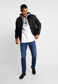 Hollister Co. - AVIATOR - Giacca in similpelle - black - 1