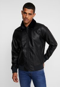 Hollister Co. - AVIATOR - Giacca in similpelle - black - 0