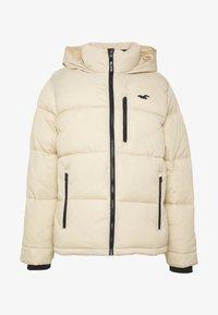 Hollister Co. - PUFFER MOCK BURG - Zimní bunda - beige - 4
