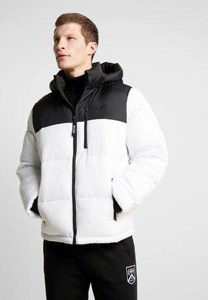 PUFFER HOOD - Zimní bunda - white
