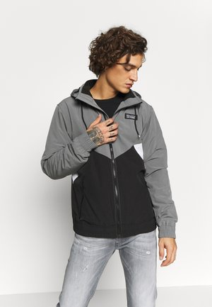 CHAIN - Chaqueta fina - black/white/grey