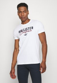 Hollister Co. - 3 PACK - Print T-shirt - white/grey/red - 1