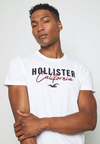 Hollister Co. - 3 PACK - Print T-shirt - white/grey/red - 6