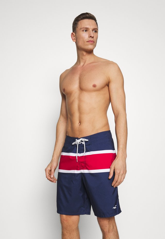 RIGID CLASSIC - Surfshorts - navy/white/red color block