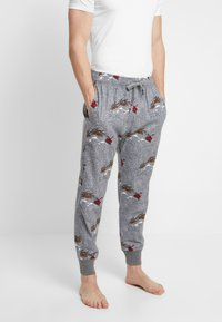 Hollister Co. - JOGGER SLEEP PANT - Pantalón de pijama - grey conversational - 0