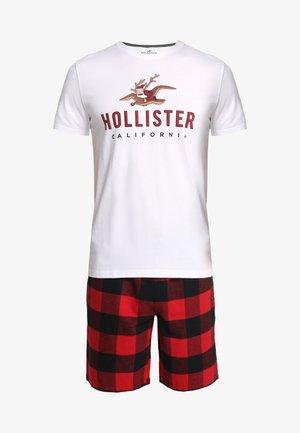 SHORT GIFTSET - Pijama - red/black