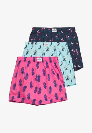 PATTERN 3 PACK - Boxershorts - navy/light blue/light pink