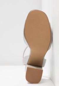 Head over Heels by Dune - MARIAAH - Sandali con tacco - silver - 6