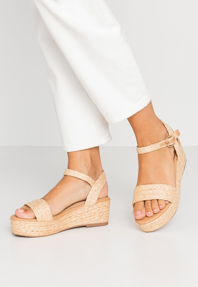 Head over Heels by Dune - KALIEE - Platform sandals - natural