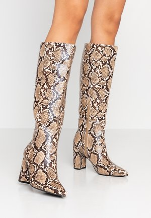 SALI - High heeled boots - beige