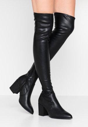 SALEENA - Kozačky nad kolena - black