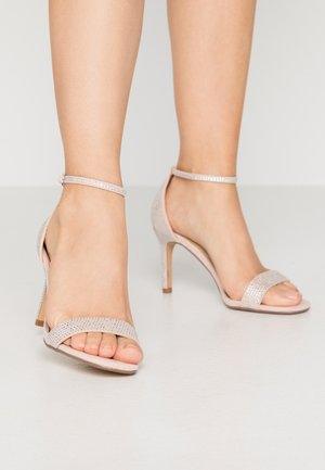 MADDI - High heeled sandals - nude/metallic