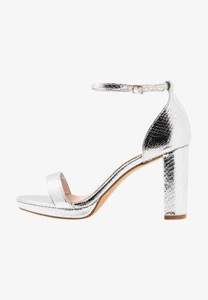 MADINA - High heeled sandals - silver