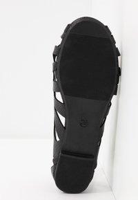 Head over Heels by Dune - HARLO - Peeptoe ballerina's - black - 4