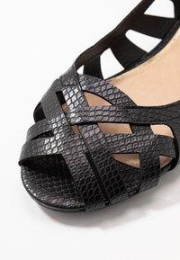 Head over Heels by Dune - HARLO - Peeptoe ballerina's - black - 5