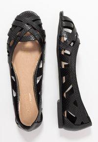 Head over Heels by Dune - HARLO - Peeptoe ballerina's - black - 1