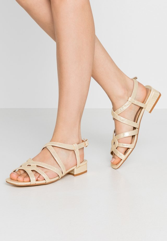 JAIDAN - Sandals - gold metallic