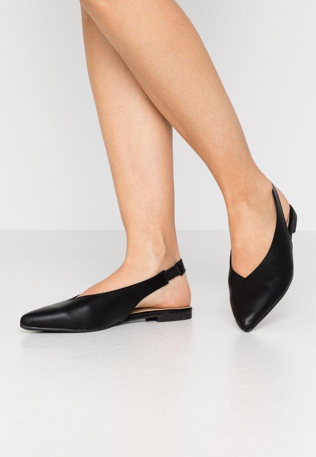 HATTY - Ballerinaskor med slingback - black