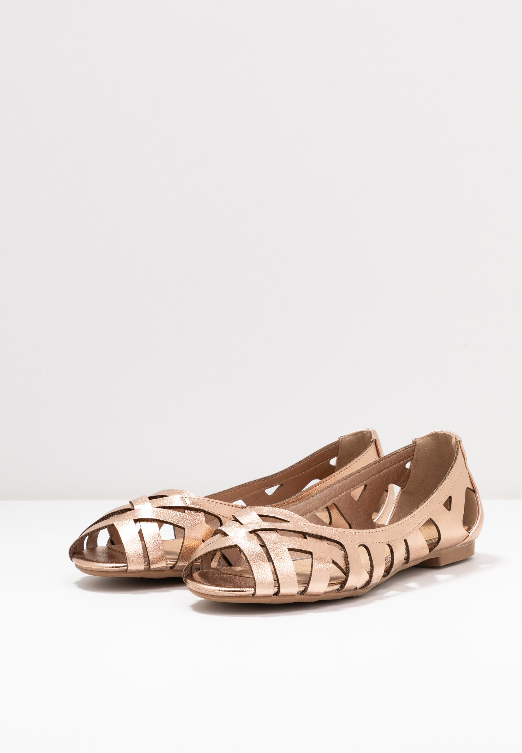 Head Over Heels By Dune Harlo - Ballerines À Bout Ouvert Rose Gold