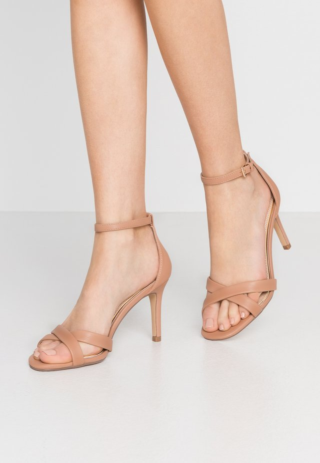 MADIHA - High heeled sandals - nude