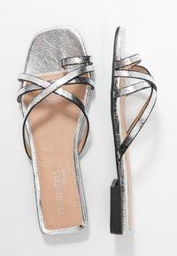 Head over Heels by Dune - LILLYY - Sandály s odděleným palcem - silver - 1