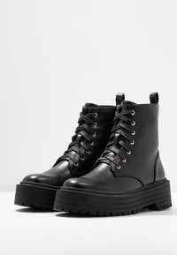Head over Heels by Dune - PINKY - Bottines à plateau - black - 4