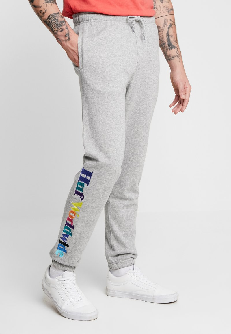 HUF - ISSUE - Tracksuit bottoms - grey heather