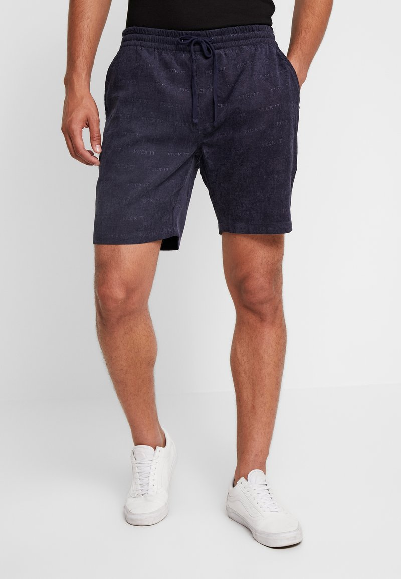 HUF - FUCK IT EASY - Pantalones deportivos - dark navy