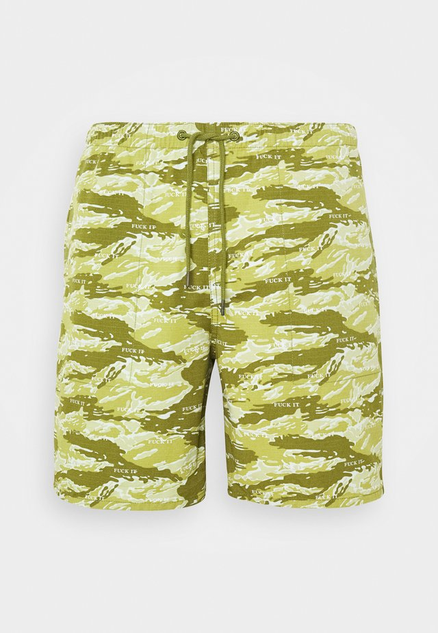 FUCK IT TIGER  - Shorts - dusty olive