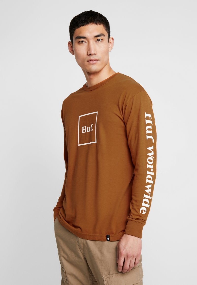 HUF - DOMESTIC TEE - Pitkähihainen paita - rust