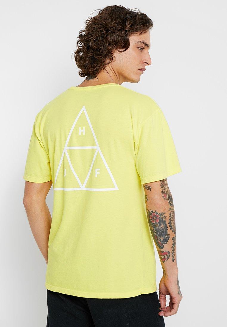 HUF - TRIPLE TRIANGLE TEE - T-Shirt print - aurora yellow