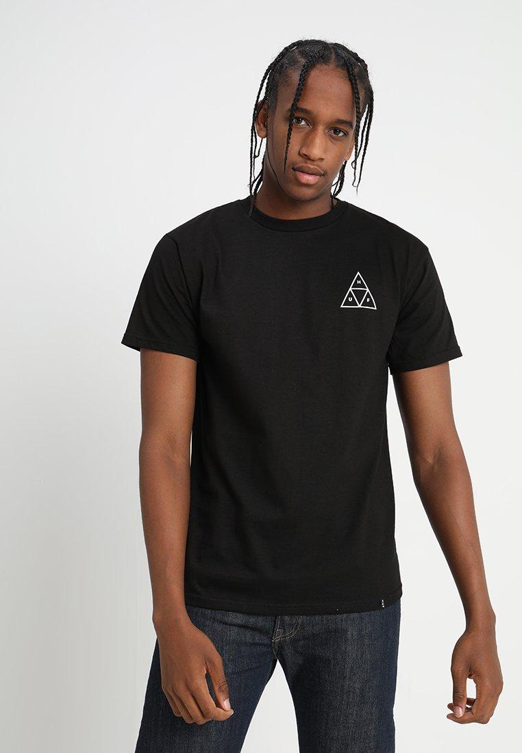 HUF - TRIPLE TRIANGLE TEE - Print T-shirt - black