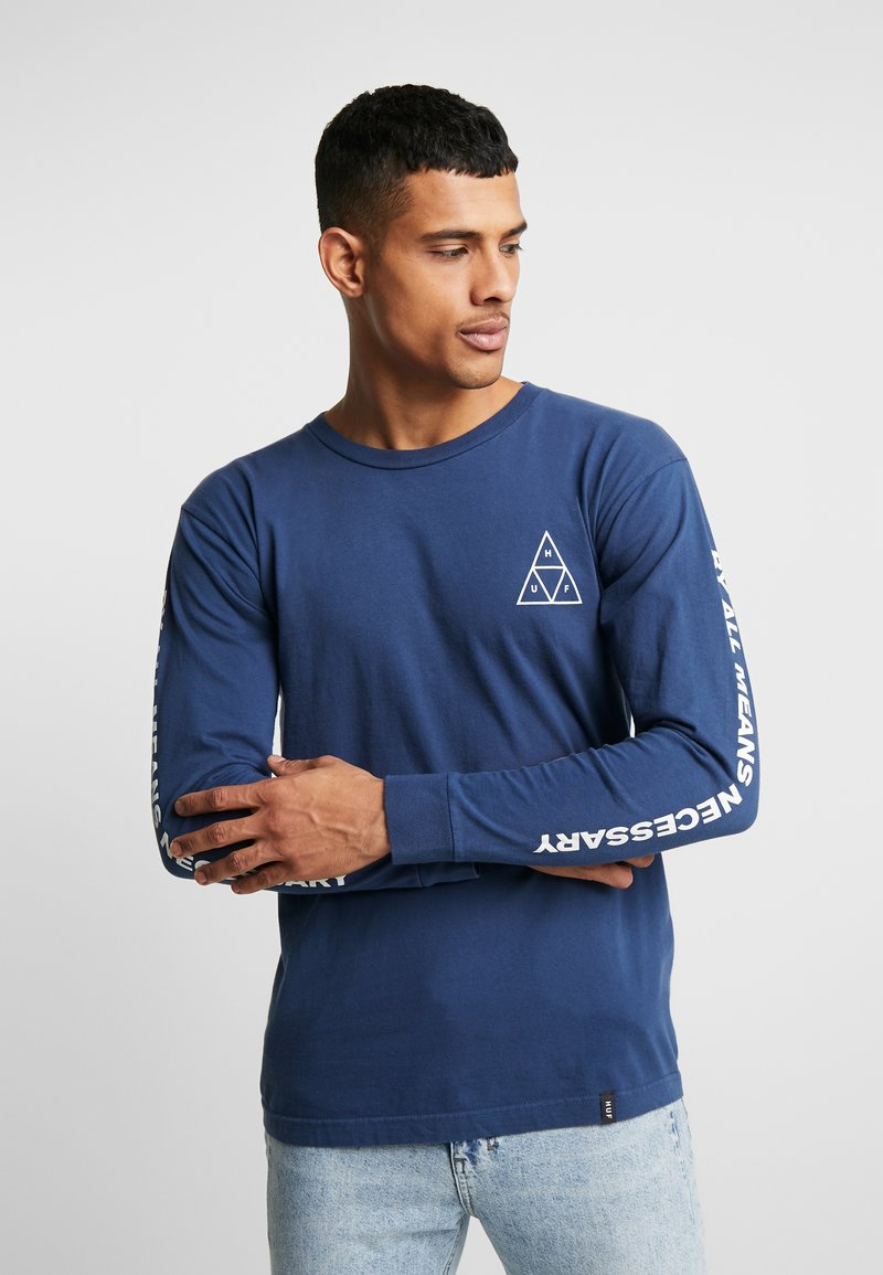 HUF - ESSENTIALS TEE - Long sleeved top - insignia blue