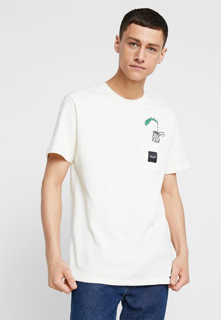 HUF - HUF X POPEYE POCKET TEE - Print T-shirt - cream