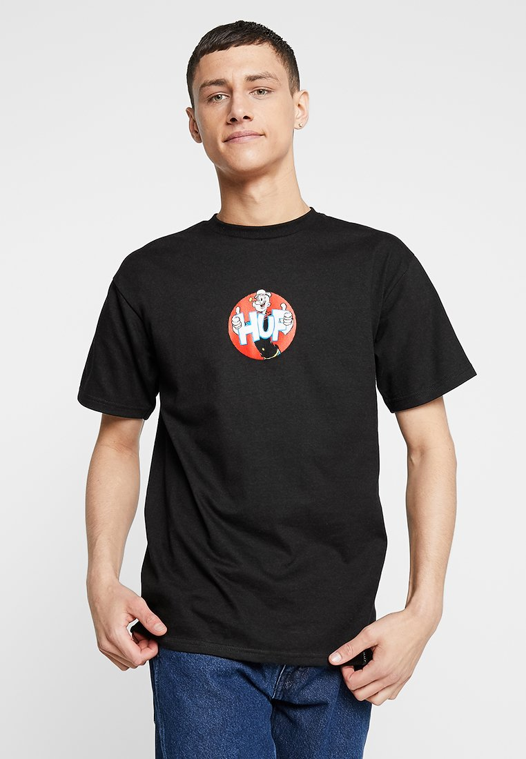 HUF - HUF X POPEYE SHOW TEE - Print T-shirt - black