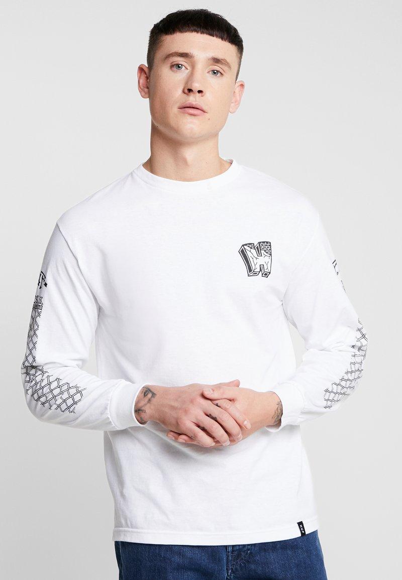 HUF - PAVILLION TEE - Pitkähihainen paita - white