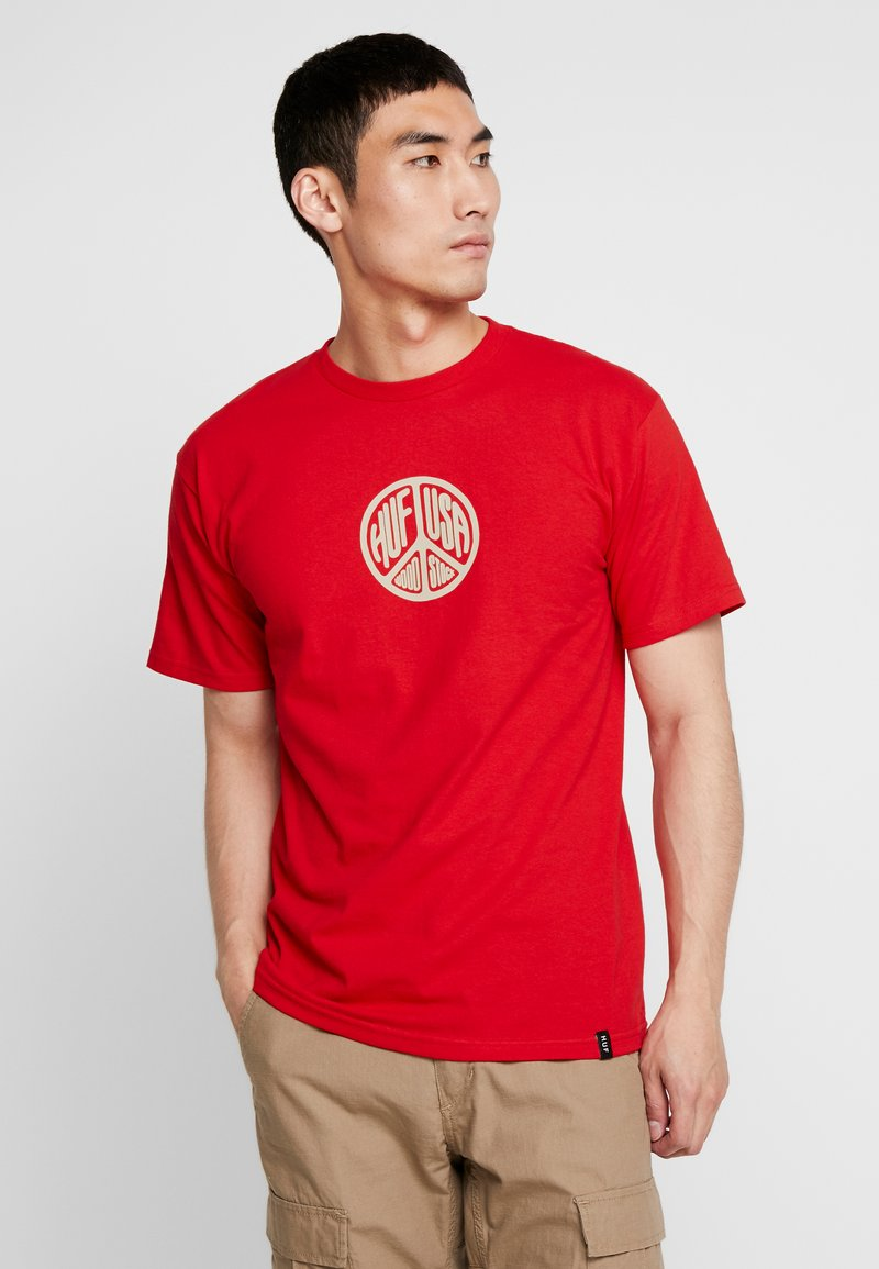 HUF - WOODSTOCK STAFF TEE - T-shirt con stampa - red