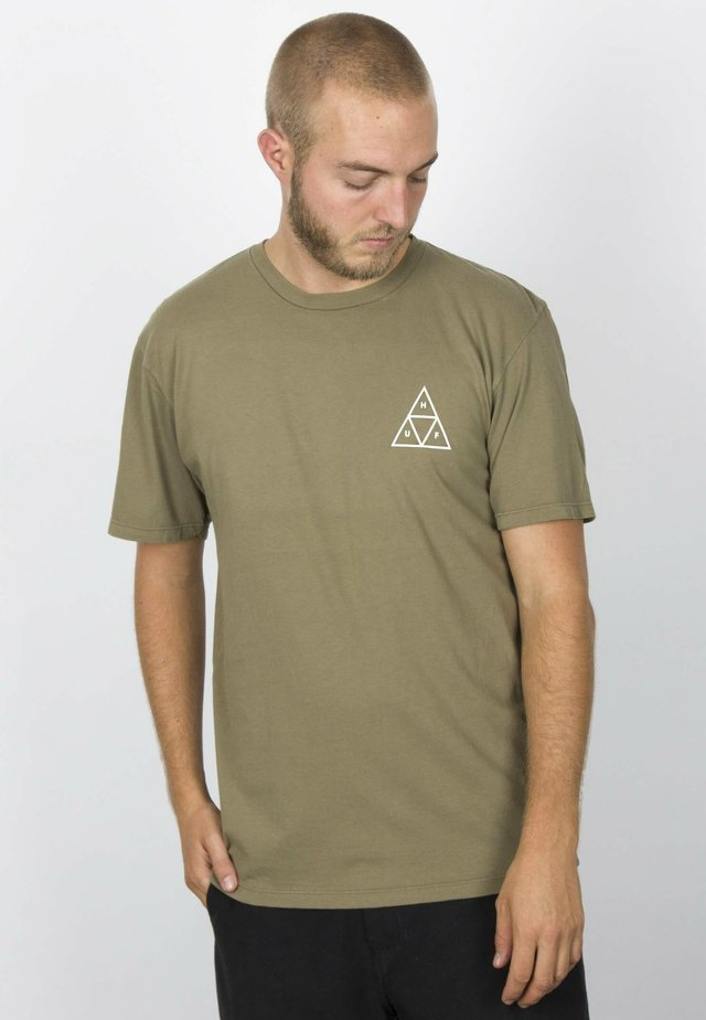 DYSTOPIA TEE - Print T-shirt - dried herb