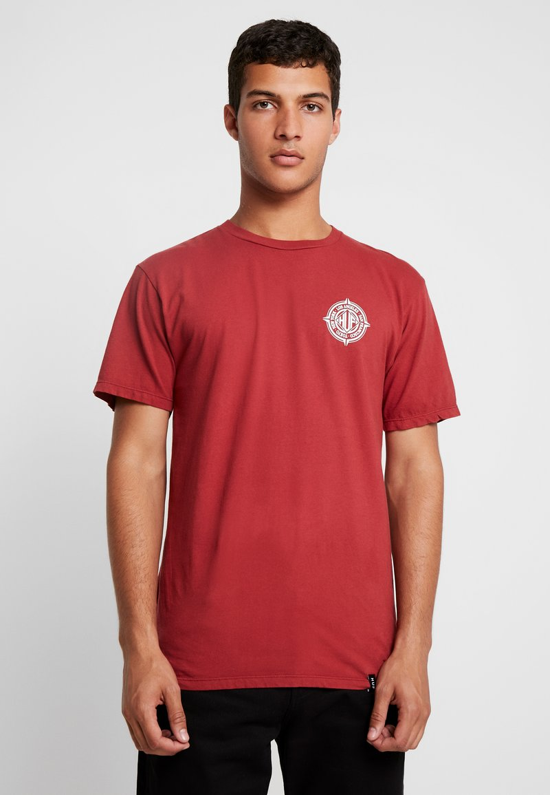 HUF - COORDIANTES TEE - T-Shirt print - rose wood red