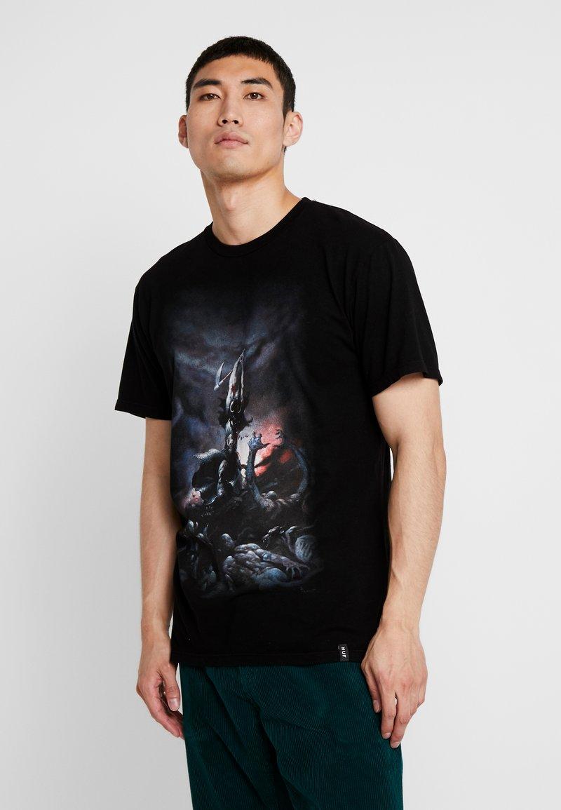 HUF - FRAZETTA DEATH DEALER TEE - T-shirt imprimé - black