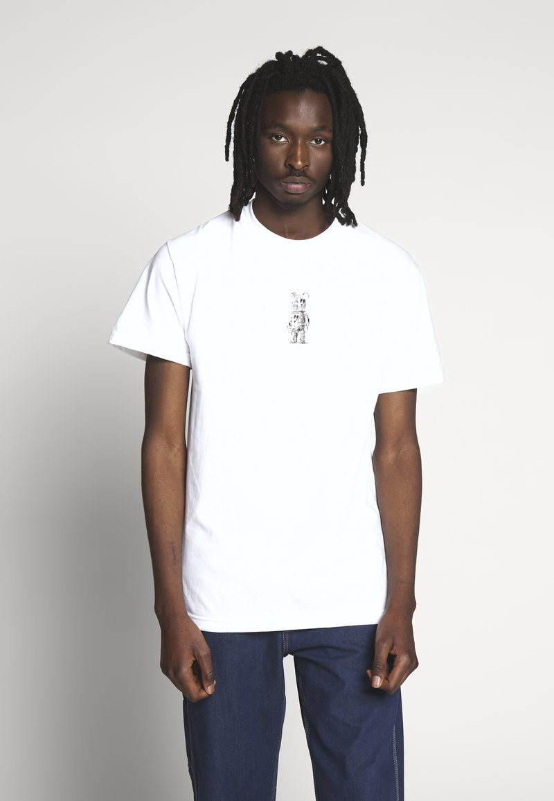 HUF - PHIL FROST BEARBRICK TEE - T-Shirt print - white