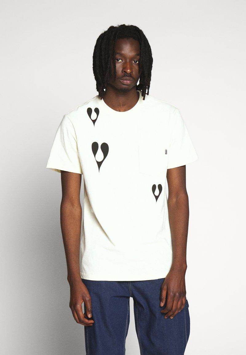 HUF - PHIL FROST POCKET TEE - T-Shirt print - natural