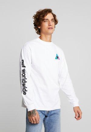 PRISM TEE - Topper langermet - white