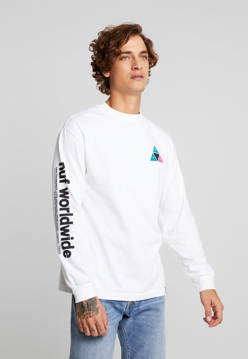 HUF - PRISM TEE - Pitkähihainen paita - white