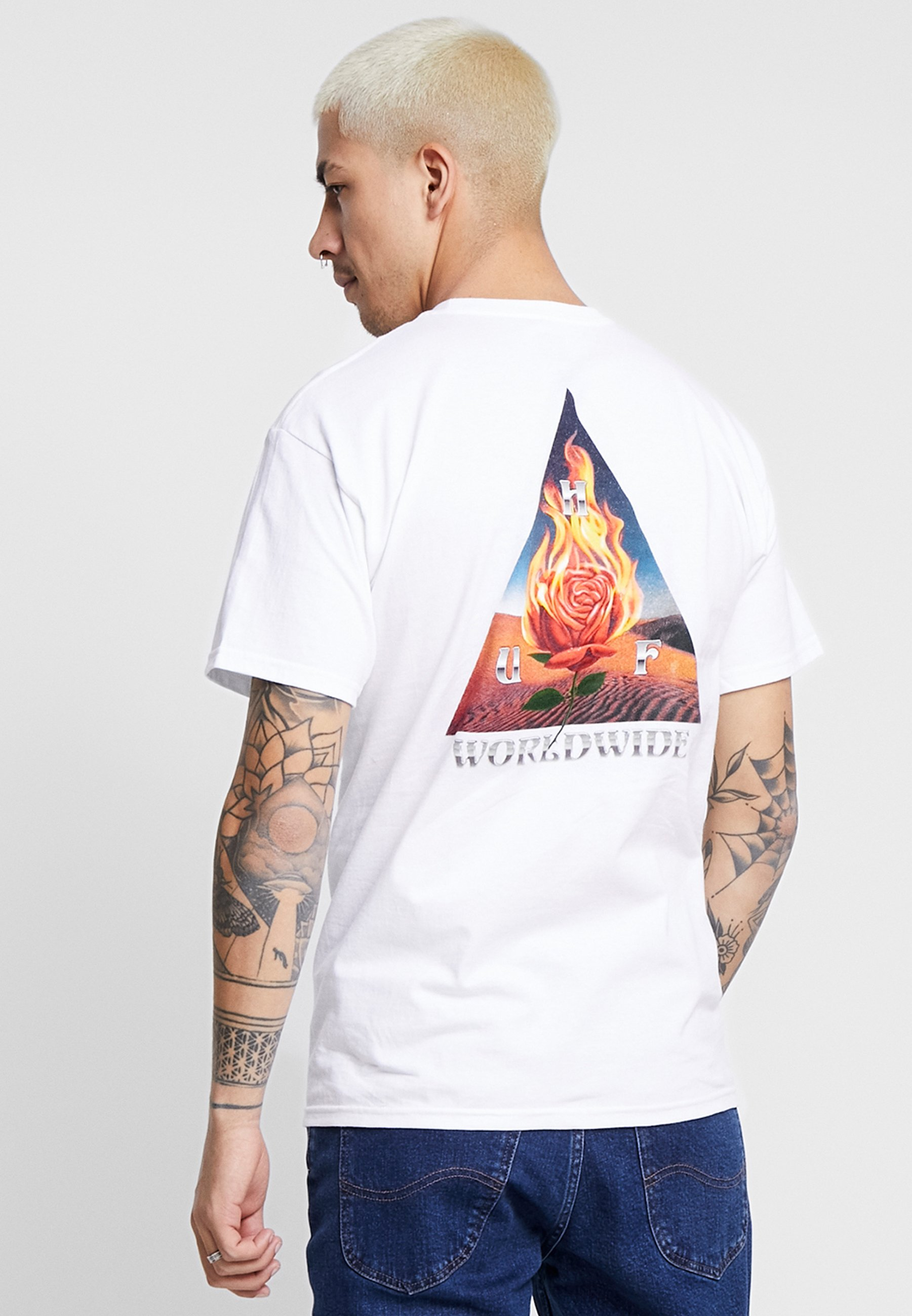 Huf Ember Rose Tee - T-shirt Print White jAE0cnq4 JteAU4m2