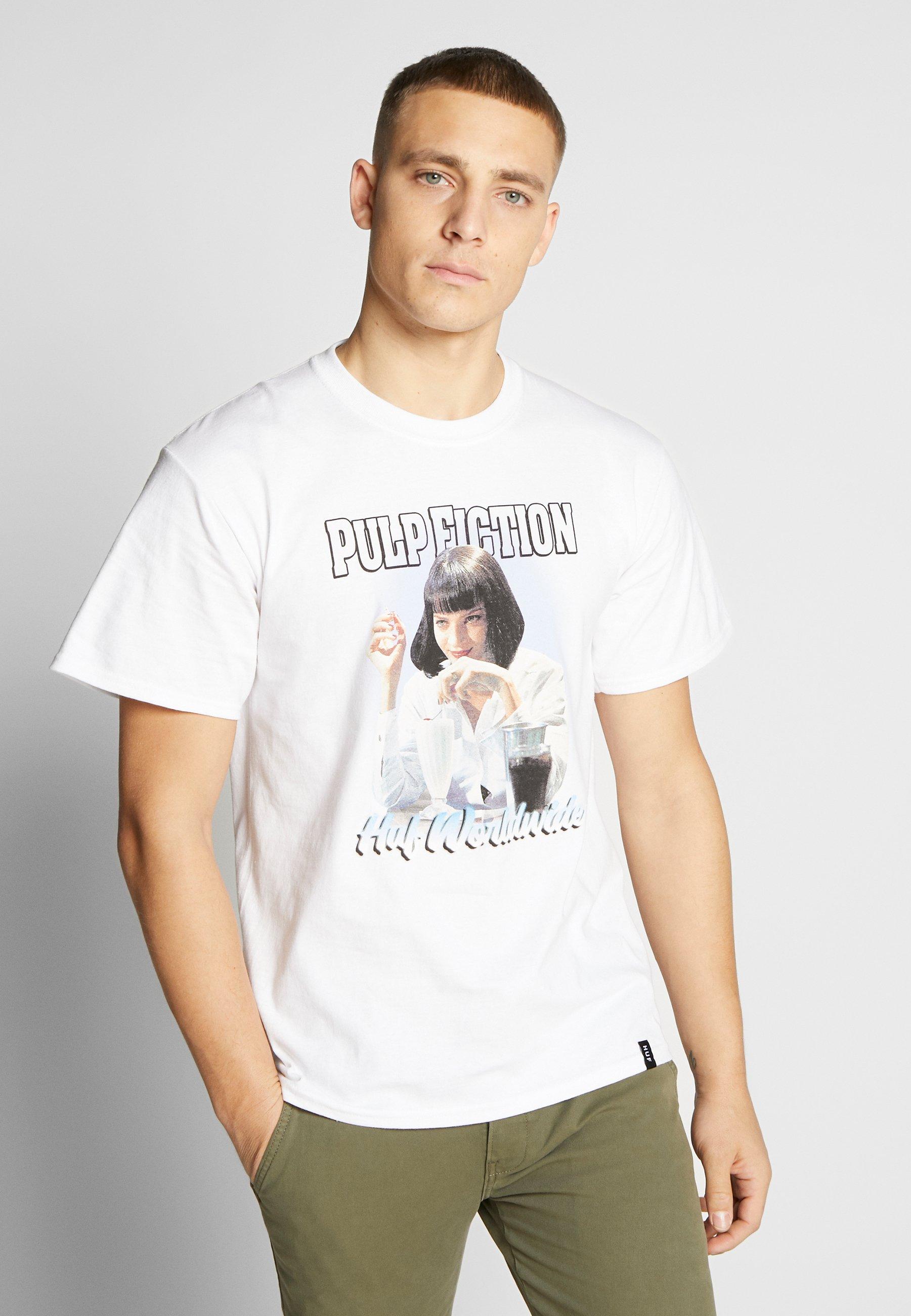 HUF PULP FICTION MIA AIRBRUSH TEE - T-shirt z nadrukiem - white