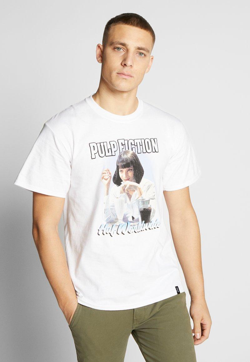 HUF - PULP FICTION MIA AIRBRUSH TEE - Print T-shirt - white