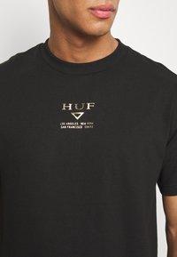 HUF - HUFEX TEE - Triko spotiskem - black - 5