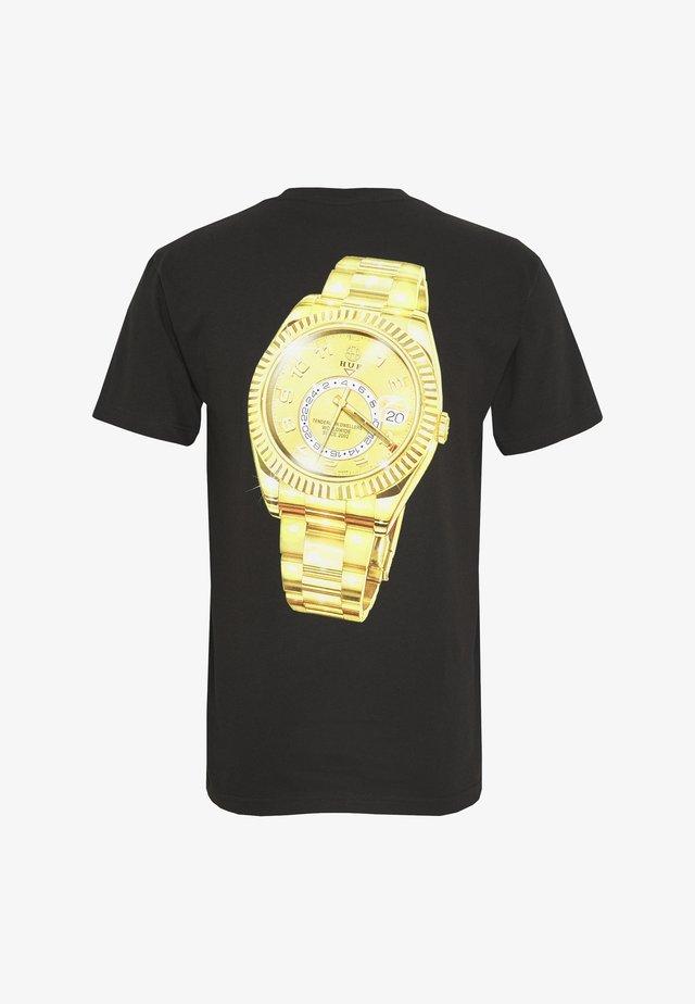 HUFEX TEE - T-shirts print - black