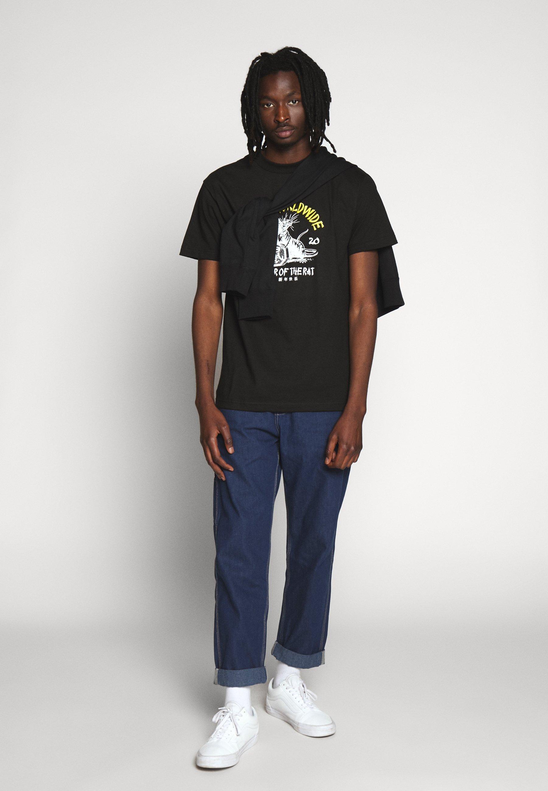 Huf Year Of The Rat Tee - T-shirt Med Print Black